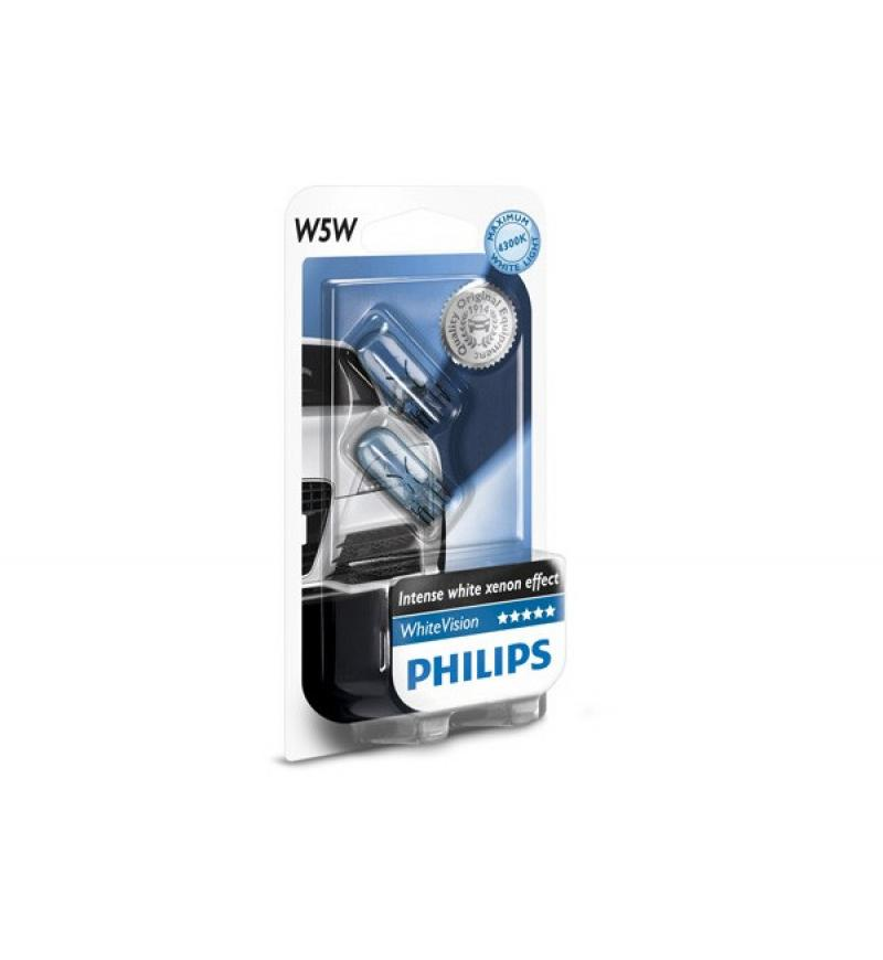 SET LAMP W5W WHITEVISION 12V